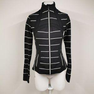 Lululemon Define Jacket Black White Stripe